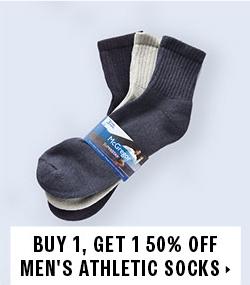 Buy 1 Get 1 50% off socks