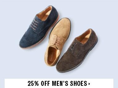25% off mens shoes