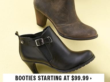 Booties starting at $99.99