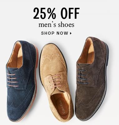 25% off men's shoes