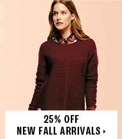 25% off new fall arrivals