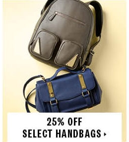 25% off select handbags