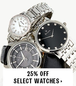 25% off select watches