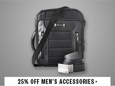 25% off mens accessories
