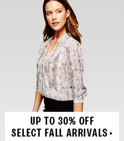 Up to 30% off fall arrivals