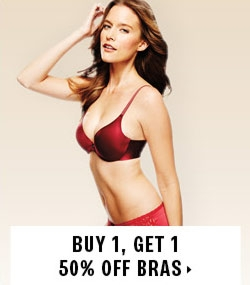 Buy 1, get 1 50% off bras