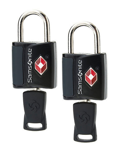 Samsonite Travel Sentry 2 Pack Key Lock-BLACK-One Size