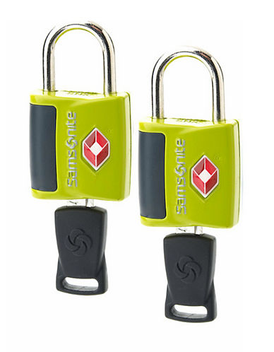 Samsonite Travel Sentry 2 Pack Key Lock-LIME-One Size