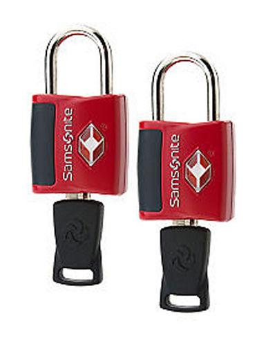 Samsonite Travel Sentry 2 Pack Key Lock-RED-One Size