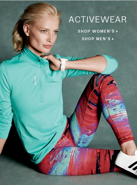 Activewear: shop men, shop women