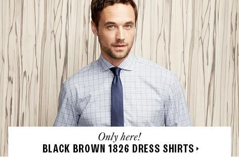 Black Brown 1826 dress shirts
