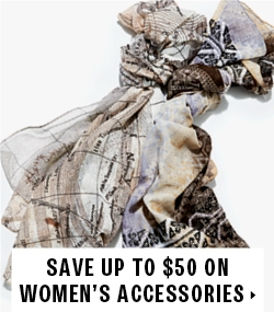 Save up to $50 on women's accessories