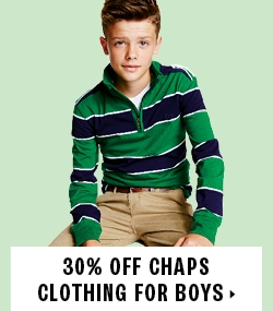 30% off Chaps clothing for boys