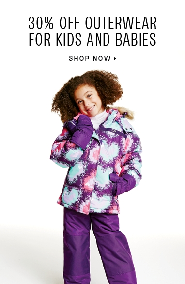 30% off Outerwear for kids & Babies