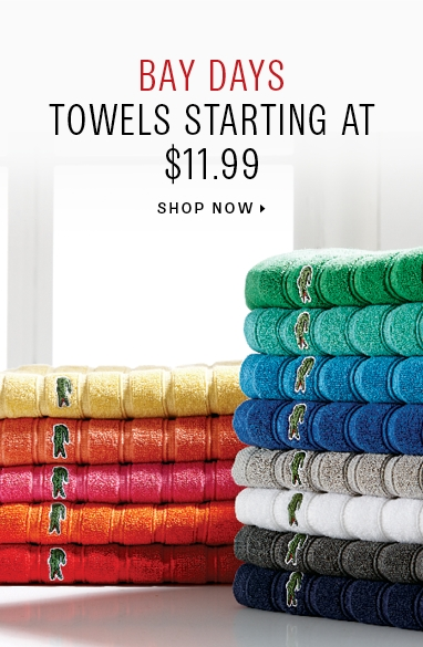 Towels starting at 11.99