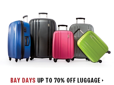 luggage up to 75% off