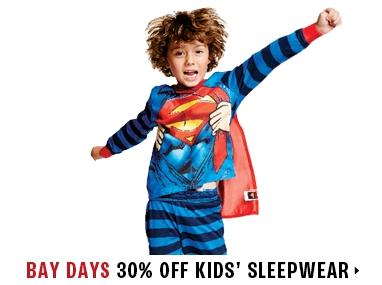 30% off sleepwear for kids
