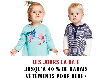 Up to 40% off clothing for babies