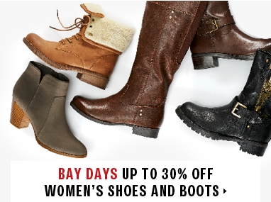 Save up to 30% on women's shoes and fashion boots