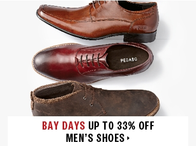 Up to 33% off men's shoes