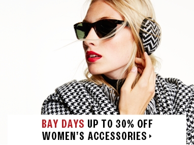 Up to 30% off women's accessories