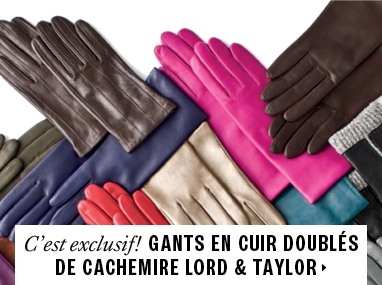 LORD & TAYLOR cashmere-lined gloves