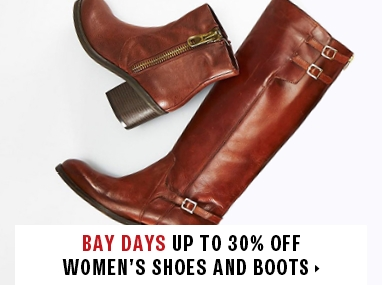 Save up to 30% off women's shoes and boots
