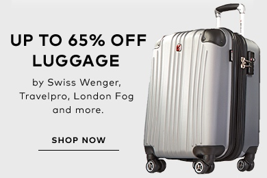 Up to 65% off select luggage