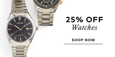25% off watches promo