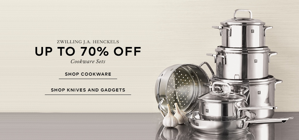 Zwiling J.A Henckels - Up to 70% off cookware, knifes and gadgets