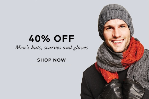 Save on Men's hats scarves and gloves