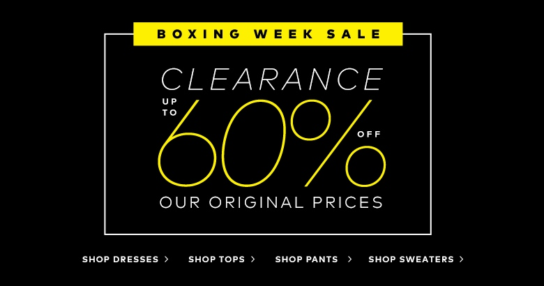 Boxing Day/Week Sale