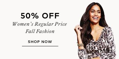 50% off women's regular price fashion