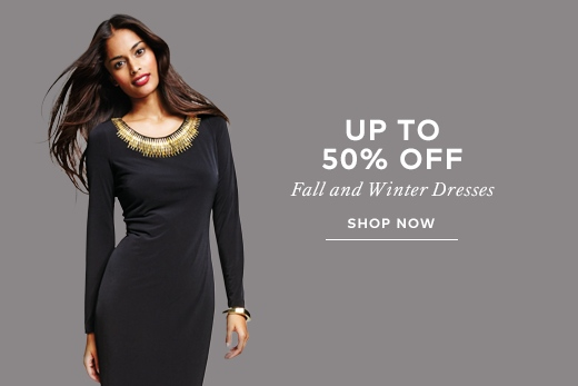 Up to 50% off fall/winter 2014 dresses