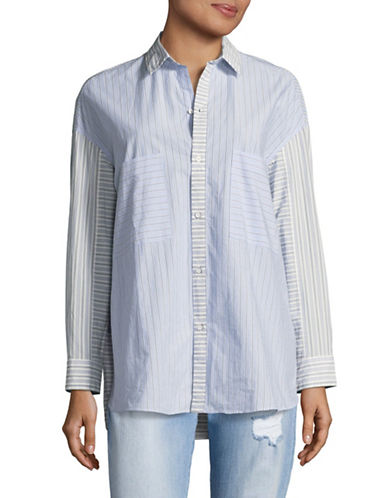 Tomorrowland Striped Button Front Shirt-STRIPE-EUR 38/US 6
