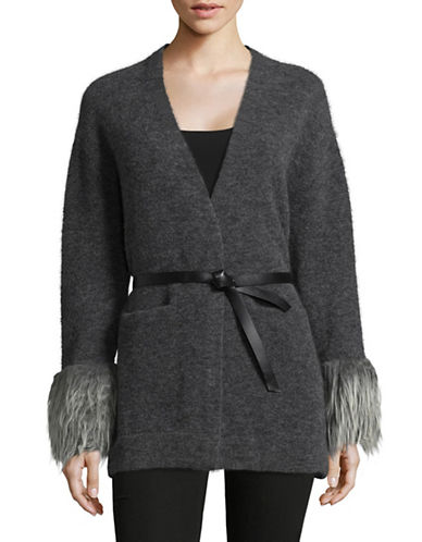 Tomorrowland Wool-Blend Cardigan-GREY-Medium