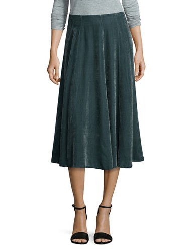 Tomorrowland Velvet Circle Skirt-GREEN-EUR 38/US 6