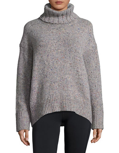 Tomorrowland Wool-Blend Turtleneck Sweater-GREY-Small