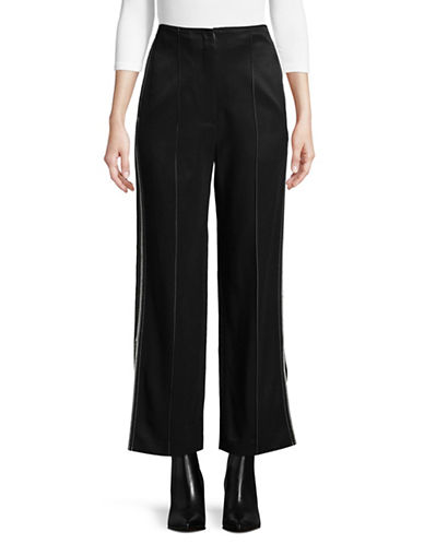 Tomorrowland Side Slit Pants-BLACK-EUR 40/US 8