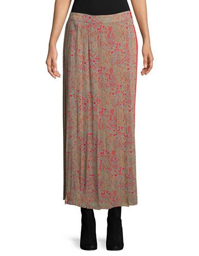 Tomorrowland Botanical Printed Maxi Skirt-PINK-EUR 40/US 8