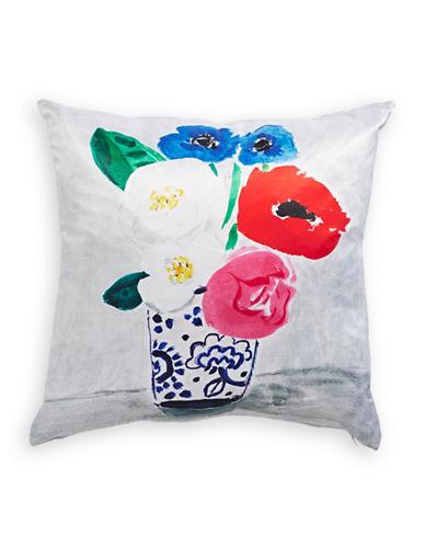 Kate Spade New York Flower Vase Silk-Blend Cushion-MULTI-20x20
