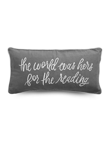 Kate Spade New York The World Was Hers Rectangular Pillow-GREY-One Size