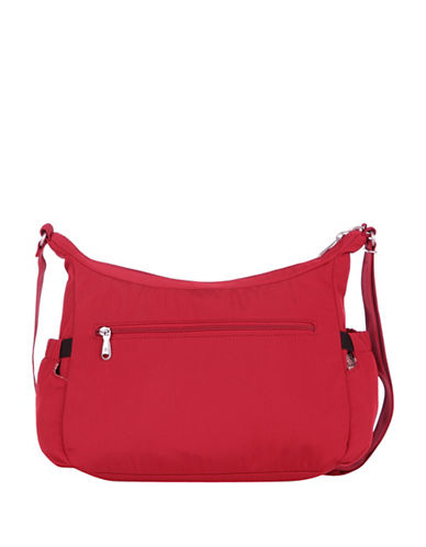 Beside-U Jillian Black RFID Protected Hobo-RED-One Size