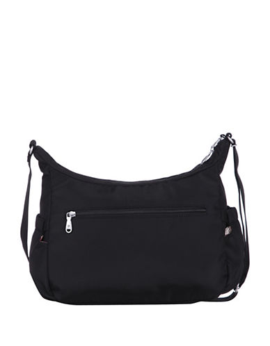 Beside-U Jillian Black RFID Protected Hobo-BLACK-One Size