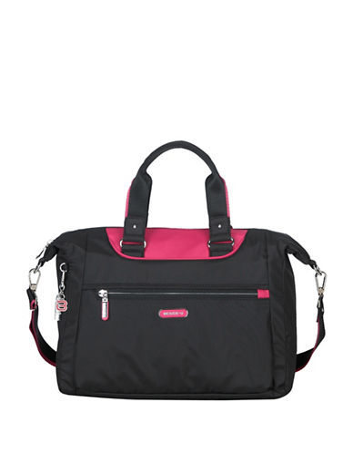Beside-U Beatrice RFID Travel Crossbody Bag-BLACK/RED-One Size
