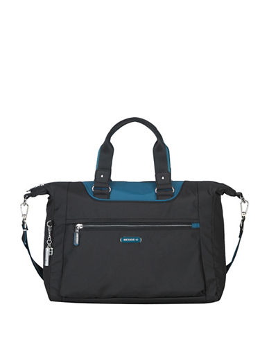 Beside-U Beatrice RFID Travel Crossbody Bag-BLACK/BLUE-One Size