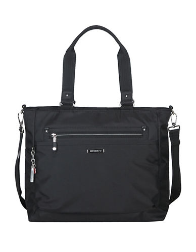Beside-U Fontana Leather RDID Protected Tote-BLACK-One Size
