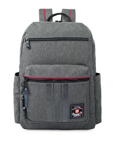Beside-U Alloy RFID Protection Backpack-GREY-One Size