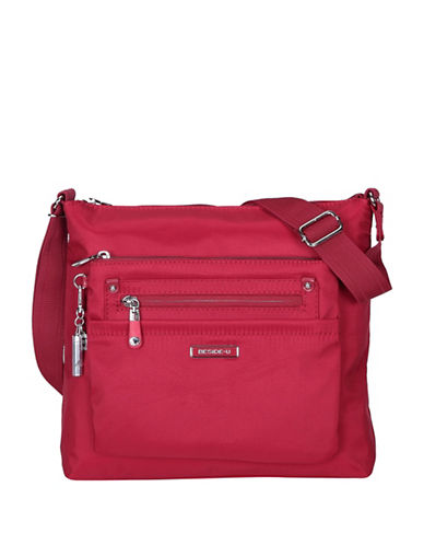 Beside-U Lucia Lia RFID Protection Crossbody Bag-RED-One Size
