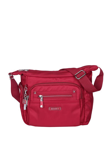 Beside-U Bishop Lia RFID-Protected Crossbody Bag-RED-One Size
